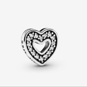 PANDORA Sparkling locket heart element